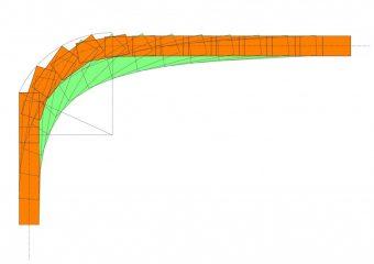 40ftコンテナ軌跡図(90°旋回)